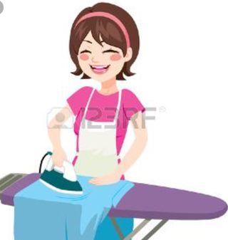 Sra para planchado de ropa, limpieza