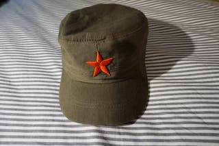 Gorra militar estrella roja