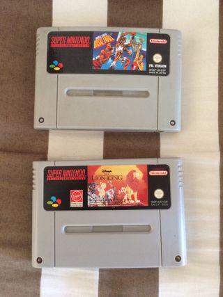 OFERTA!! Pack Juegos Super Nintendo SNES