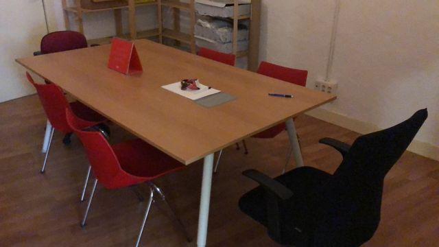 Lote 6 sillas confidente oficina Ofiprix