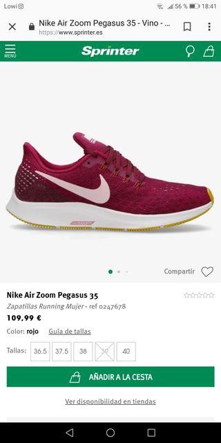d4f17a3a5f6 Zapatillas Nike Pegasus 35 de segunda mano en WALLAPOP