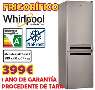 Frigorifico Whirlpool INOX 1,89m A++