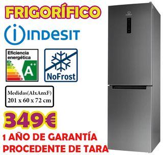 FRIGORIFICO INDESIT INOX 2,01M A++