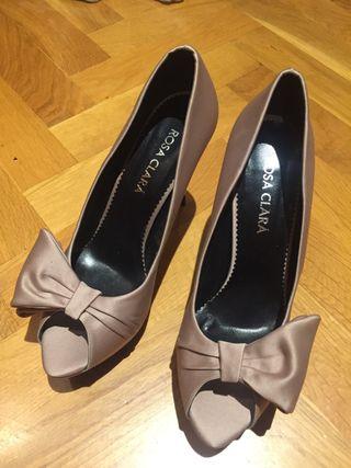 Zapato tacón Rosa Clará 41