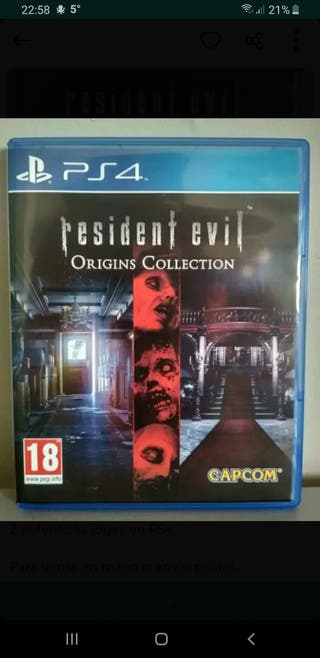 Se vende o canbia resident evil collection ps4