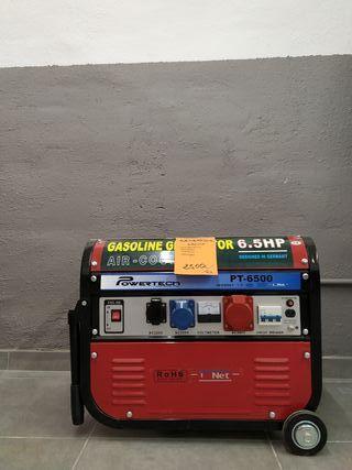Alquiler de generador de 6500w .