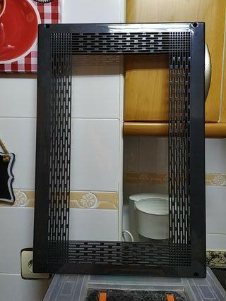 Marco microondas negro 600x400mm