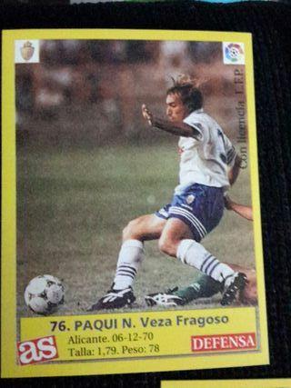 Lote cromos fútbol AS Zaragoza temporada 95/96