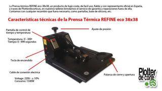 Prensa térmica Refine ECO 38 (COMO NUEVA)