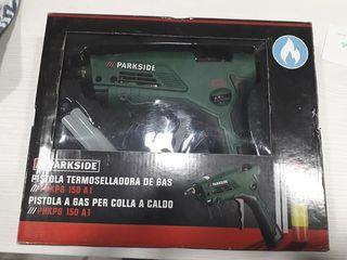 Pistola termoselladora de gas nueva.