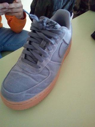 zapatillas nike air force gris