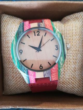 Reloj de bambú mujer