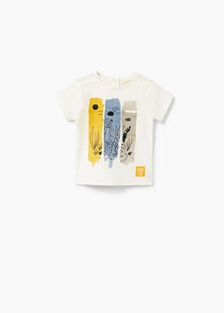 5ef2b6b95 MANGO Camiseta estampada bolsillo MIÑO NIÑA NUEVA