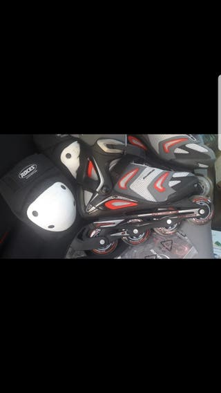 patines en linea con protecciones