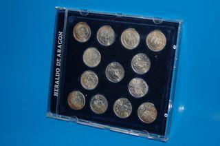 monedas ARRAS ARAGONESAS ACUÑADAS EN PLATA DE LEY
