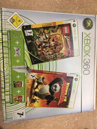 Xbox 360 , 2 mandos, volante, Kinect