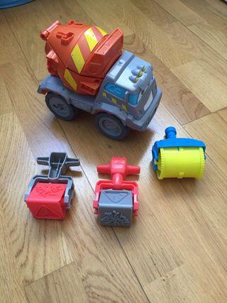 Camión hormigonera y utensilios para plastilina