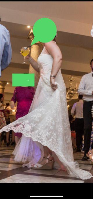 Vestido novia pedreria boho marca Marco&Maria