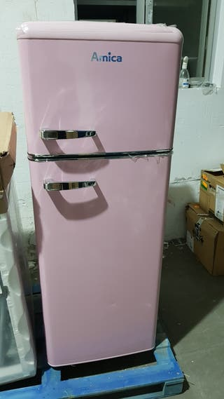 frigorífico rosa