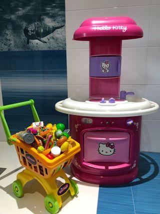 Cocina de juguete con accesorios