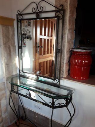 Recibidor forja con espejo