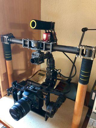 Estabilizador gimbal cámara dslr de 3 ejes