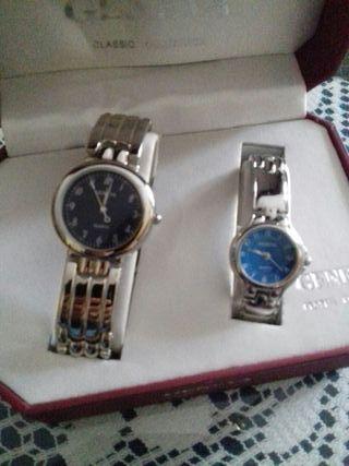 Relojes caballero y señora