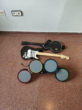 set de instrumentos xbox 360 guitar hero