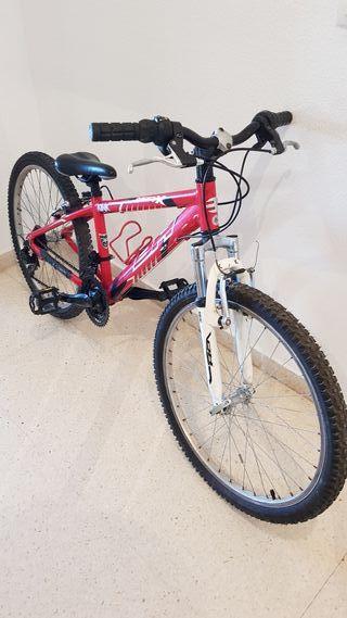 """Bicicleta MTB de 24"""" BH, mod: Over X."""