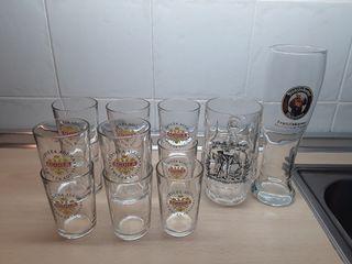 11 Vasos, jarra y vaso especial cerveza