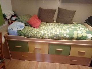 cama nido más zapatero y escritorio URGE