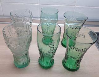 6 Vasos Coca Cola