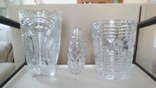 Cristol glass vases