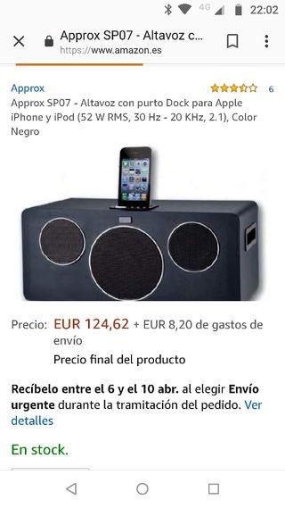Altavoz iPhone iPad
