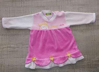 Vestido de Dudú Talla:1-3m.Ropa bebé