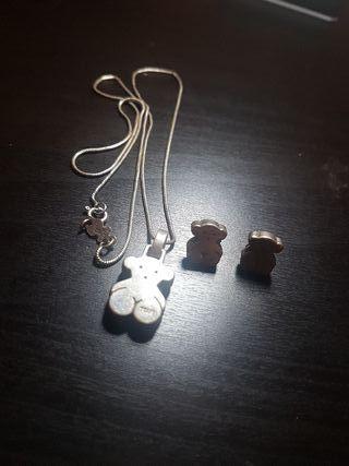 52a725ad3b19 Collar de plata Tous de segunda mano en Murcia en WALLAPOP
