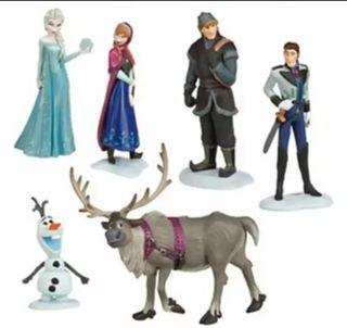 lote de 6 figuras de frozen, nuevas a estrenar