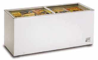 Congelador horizontal tapas correderas cristal