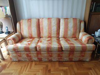sofá de 3 plazas + Sillón vintage nuevo diseño