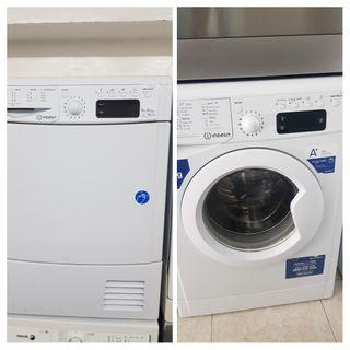 conjunto lavadora y secadora indesit