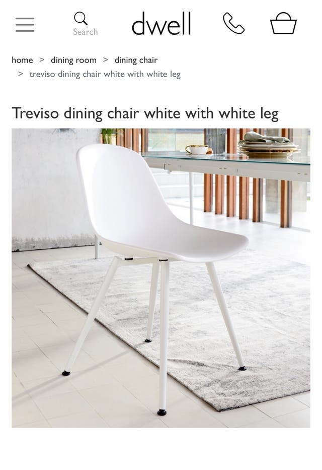 Dining white chair
