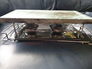 Piedra caliente para cocinar en mesa
