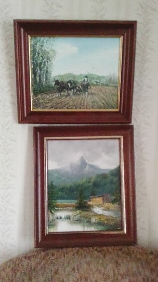 Oil on canvas pictures