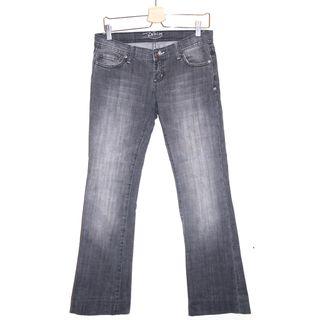 Pantalon en jean gris délavé / femme