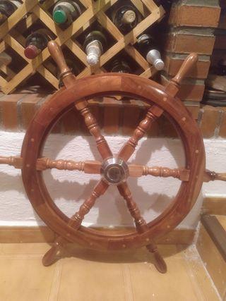 timon de barco decorativo