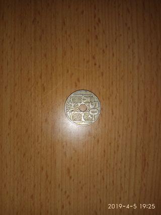 Monedas 50 céntimos,1949/53