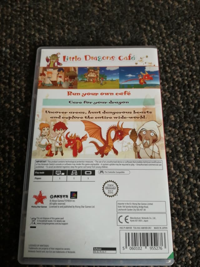 Little Dragon's Cafe Switch
