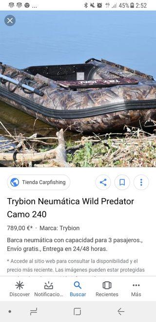 Barca neumática trybion wild predator
