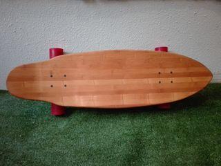 Longboard bambú ejes skate / monopatin old school