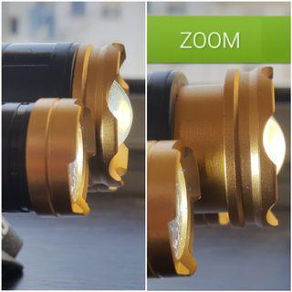A estrenar linterna frontal con zoom